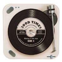 Retro Good Times With Good Friends Record Player Design Clock....